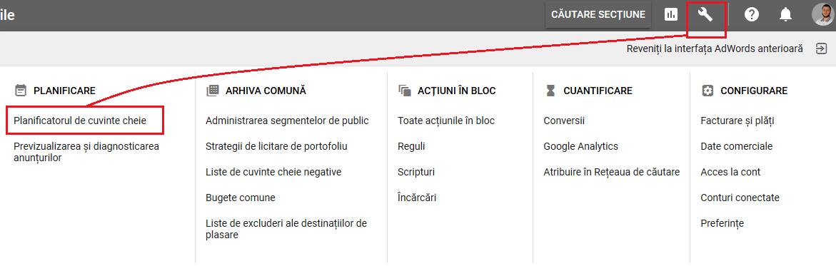 blog de nisa instrumente planificatorul de cuvinte cheie